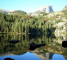 Spectacular Mirror Lake at Rocky National Park by Steve Upton