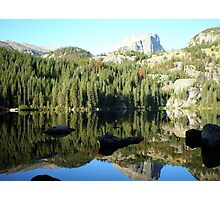 Spectacular Mirror Lake at Rocky National Park Photographic Print