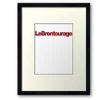LeBrontourage│Red & Gold Framed Print