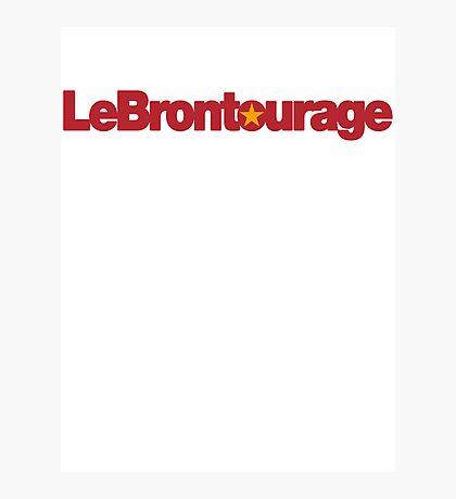 LeBrontourage│Red & Gold Photographic Print