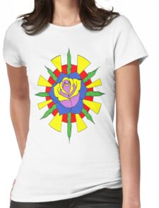 Rose and sun Womens Fitted T-Shirt