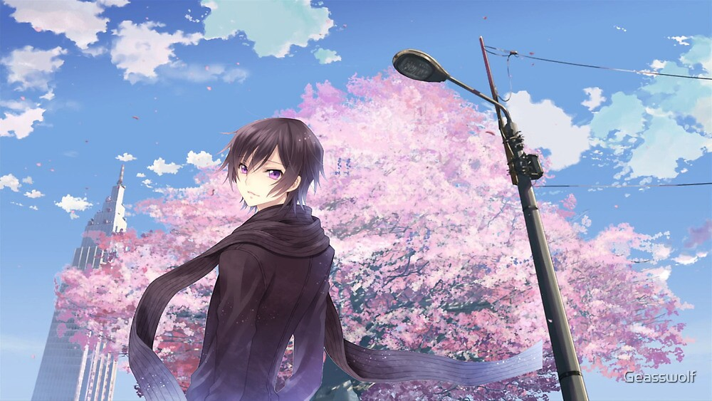 Lelouch Cherry Blossoms by Geasswolf