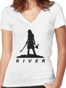River Women's Fitted V-Neck T-Shirt