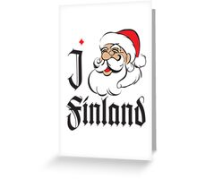 I LOVE FINLAND T-shirt Greeting Card