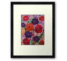 Mixed Blooms Framed Print