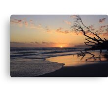 kingscliff beach sunrise ... Canvas Print