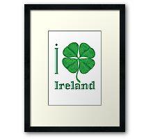 I LOVE IRELAND  T-shirt Framed Print