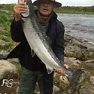 Hurray !  Great day , salmon 110 cm , 11.3 kg. Doctor Faustus. by © Andrzej Goszcz,M.D. Ph.D