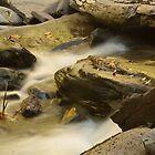 Rocks in waterfall by BrianFitePhoto