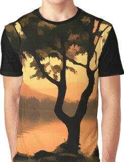 Chinese Lake Graphic T-Shirt