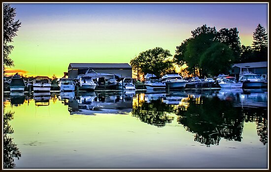 Sunset at the Marina by Mikell Herrick