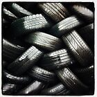 Stocked tires by peestols
