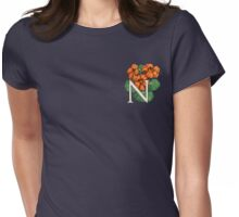 N is for Nasturtium - patch shirt Womens Fitted T-Shirt