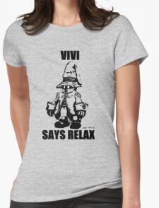 Vivi Says Relax - Transparent Womens Fitted T-Shirt