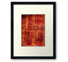 GOLDEN SUNSET STREAKS MANDALA Framed Print