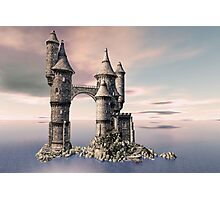 Fantasy Castle on The Sea Photographic Print