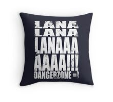 Archer - DANGER ZONE Quote -WHITE Throw Pillow