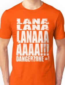 Archer - DANGER ZONE Quote -WHITE Unisex T-Shirt