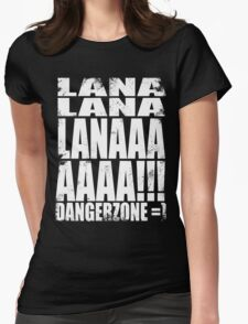 Archer - DANGER ZONE Quote -WHITE Womens Fitted T-Shirt