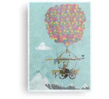 Riding A Bicycle Through The Mountains Metal Print