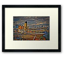 Steam Ship Wattle Framed Print