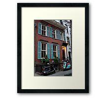 Vespas in Greenwich Village Framed Print