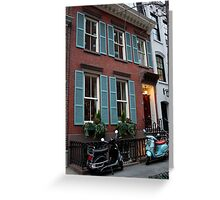 Vespas in Greenwich Village Greeting Card