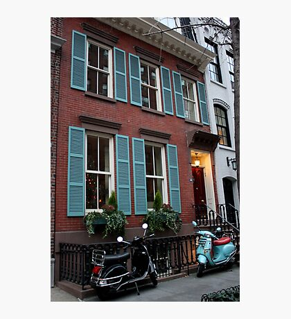 Vespas in Greenwich Village Photographic Print