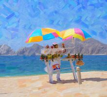 Cabo Beach Vendor by Tom  Reynen