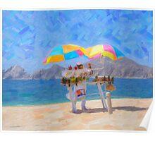 Cabo Beach Vendor Poster