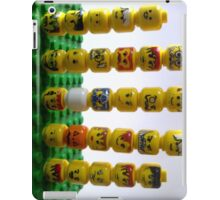 lego minifigure heads iPad Case/Skin