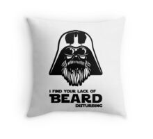 Bearded Vader Throw Pillow