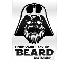 Bearded Vader Poster
