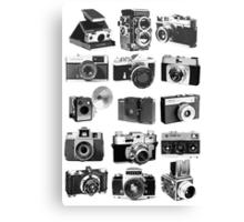 Fifteen Classic Cameras Canvas Print