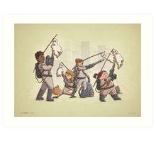 Ghostbusters Trick or Treat Art Print