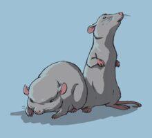 2 Laboratory Mice One Piece - Short Sleeve