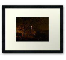 New Year's Eve Rocket Framed Print