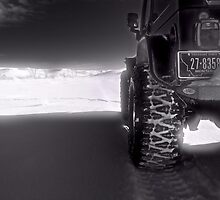 Jeeping in the grasslands North Dakota by pdsfotoart