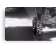 Jeeping in the grasslands North Dakota Metal Print