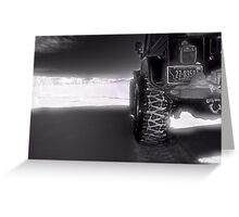 Jeeping in the grasslands North Dakota Greeting Card