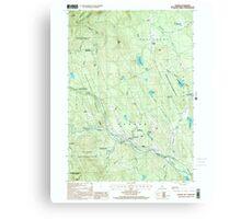 USGS TOPO Map New Hampshire NH Warner 329841 1998 24000 Canvas Print