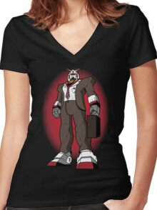 Mobile Suit Women's Fitted V-Neck T-Shirt