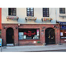 Stonewall Inn. Greenwich Village. Photographic Print