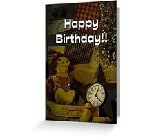 January Birthday card for all Bubblers Greeting Card