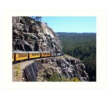 Colorado Durango Train Along Sheer Cliff Art Print