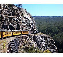 Colorado Durango Train Along Sheer Cliff Photographic Print