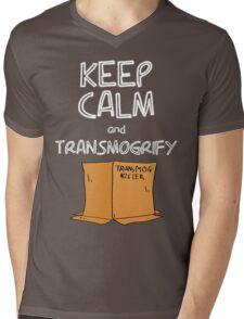 Keep Calm and Transmogrify Mens V-Neck T-Shirt