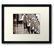 Snowy Facade  Framed Print