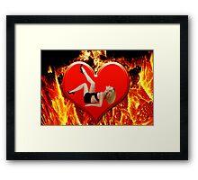 ❤‿❤ FLAMING HEART DESIRE ❤‿❤  Framed Print
