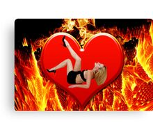 ❤‿❤ FLAMING HEART DESIRE ❤‿❤  Canvas Print